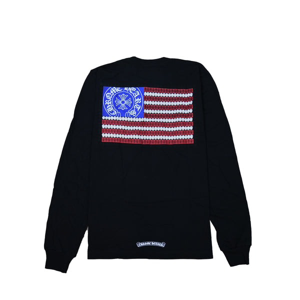 American Flag L/S T-Shirt Black