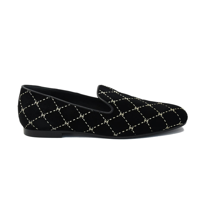 Mocassins Loafers Velvet Black