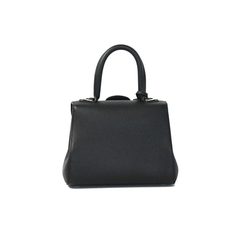 Delvaux Brillant Mini Pebble Leather Silver Hardware Black