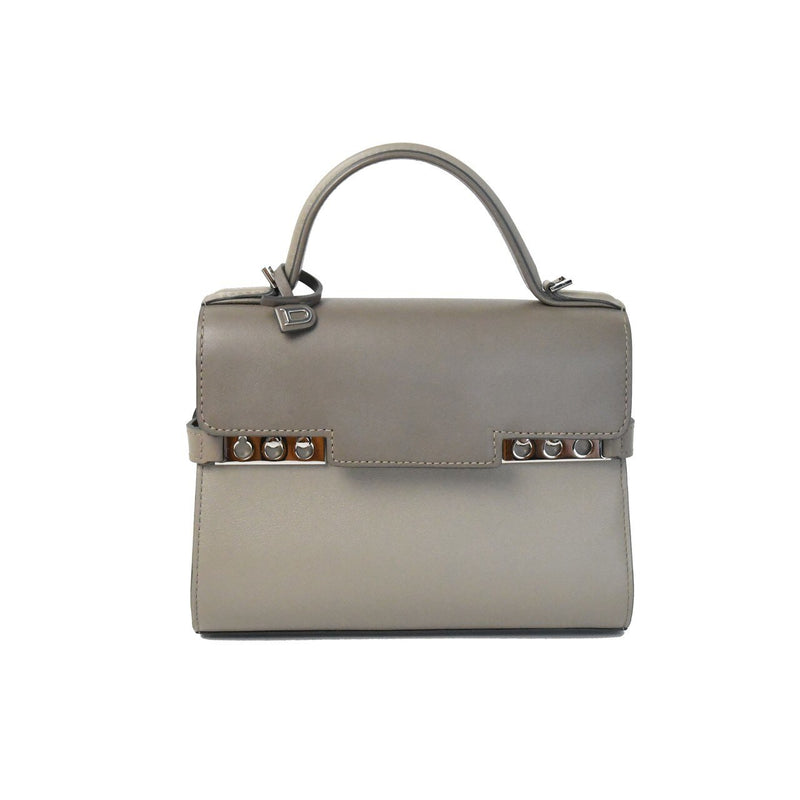Delvaux Tempete Mini Satchel Grey