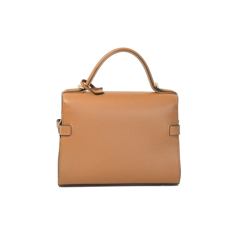 Delvaux Mini Tempete Shoulder Crossbody Bag Caramel