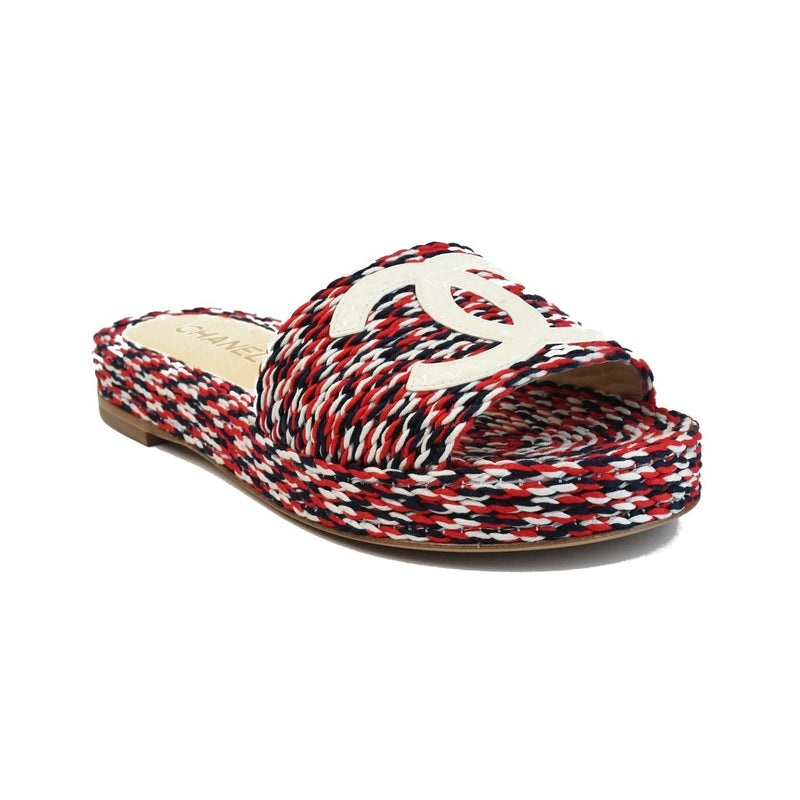 Cords Mules Red/Blue/White