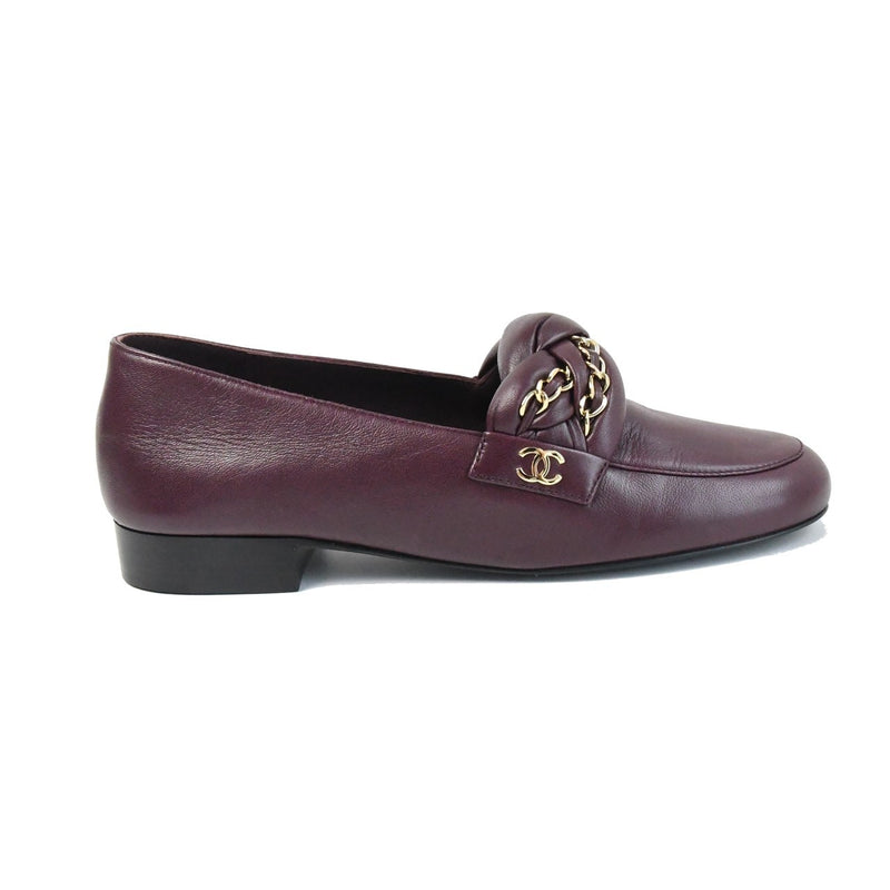 Mocassins Loafers Lambskin Burgundy