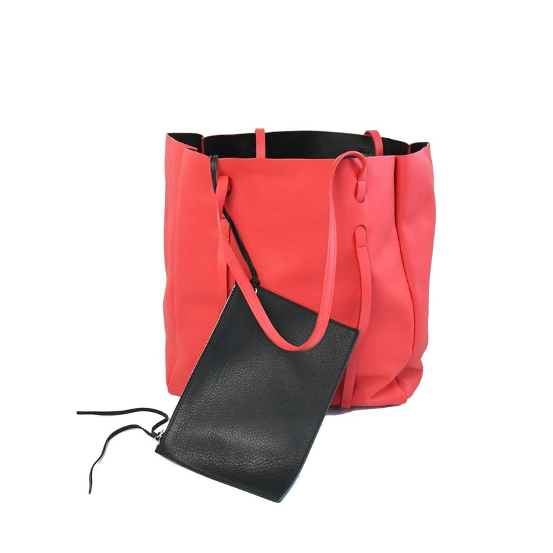 Balenciaga Everyday Leather Tote Bag Red
