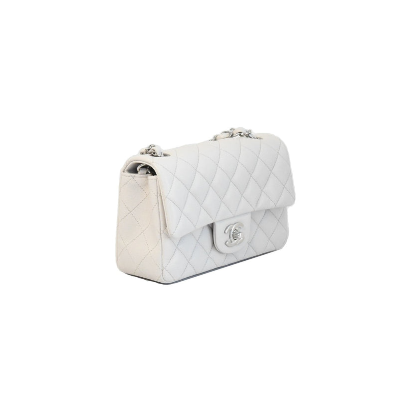 Chanel Caviar Calfskin Mini CF White