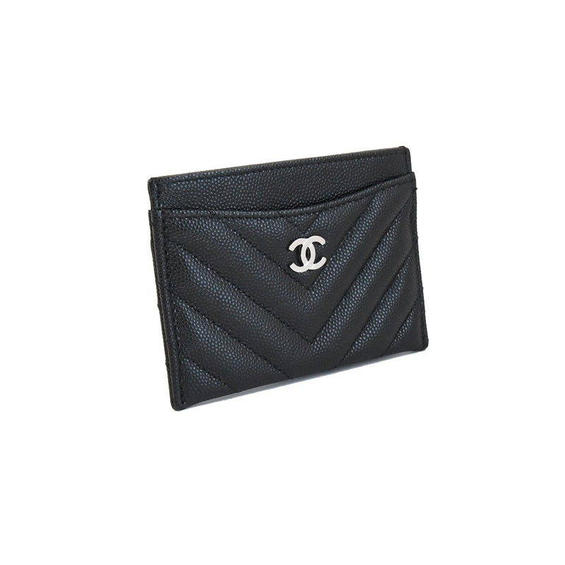 Chanel Caviar Leather Card Holder Black