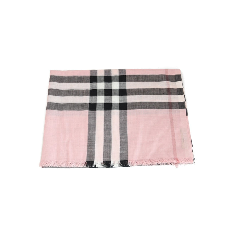 Silk And Wool Scarf Pink