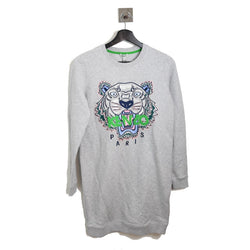 Tiger Graphic Long Sleeve Sweat Shirt Gray