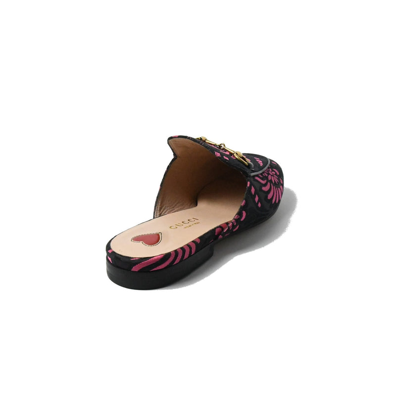 Gucci Fabric Slippers Pink Black