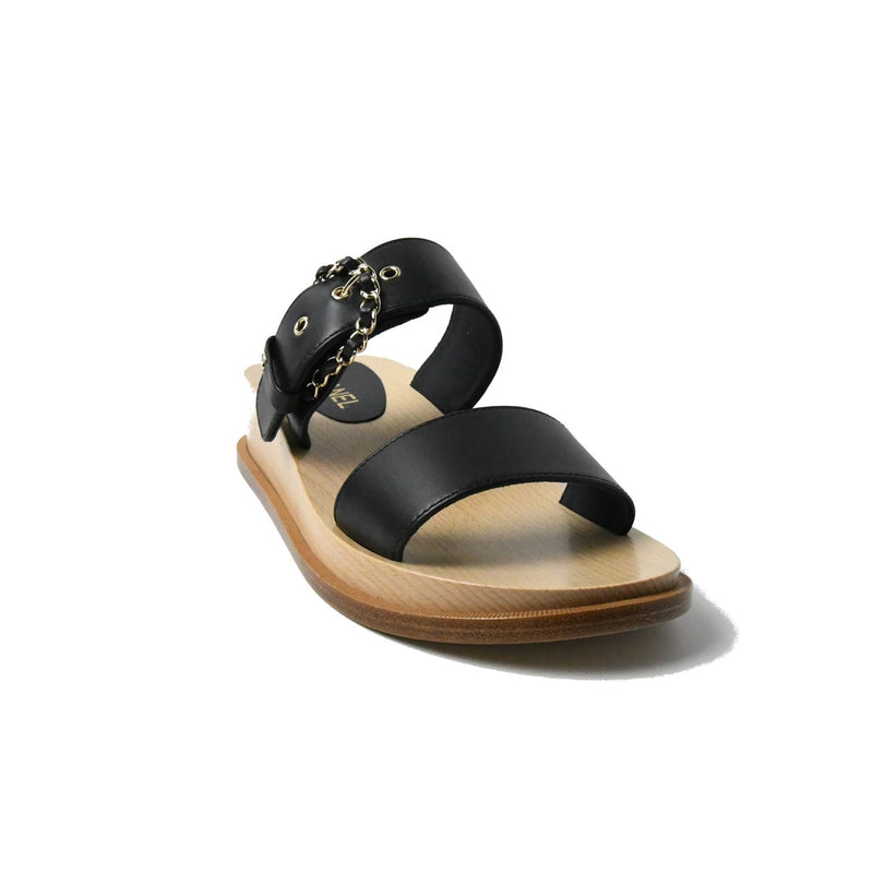 Mules Calfskin Slippers Black