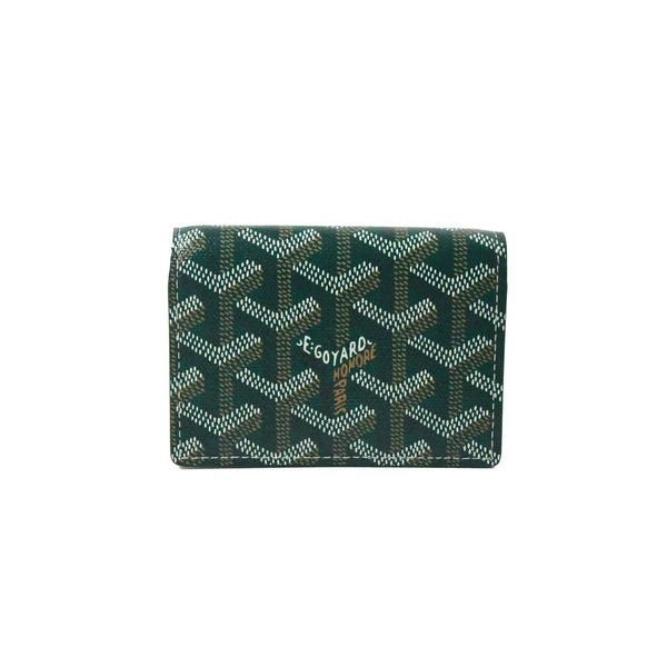 Flap Card Case Green