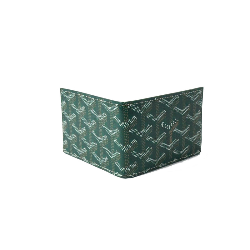Bi Fold Mini Card Case Green