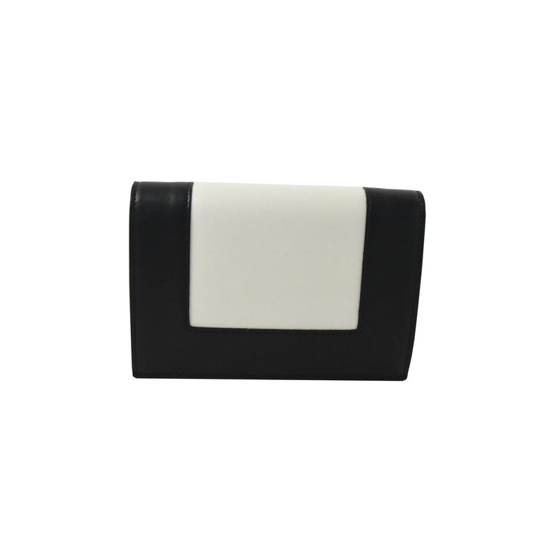Celine Frame Wallet White Black
