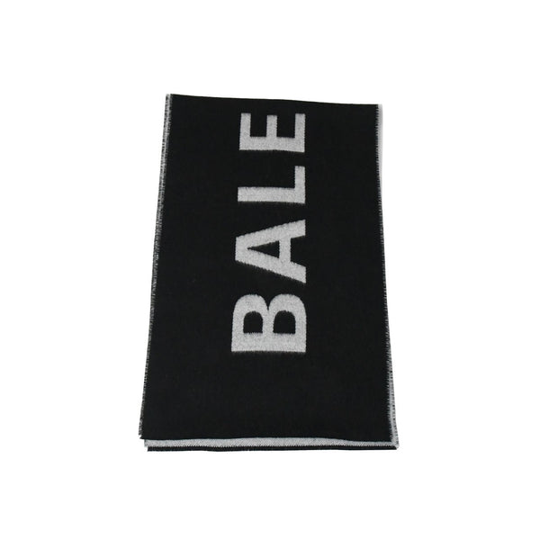 Balenciaga Wool Scarf Black Grey