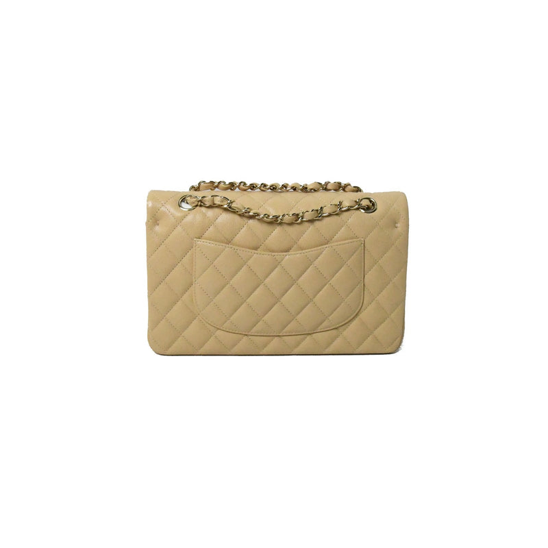 Chanel Classic CF Flap Med Beige