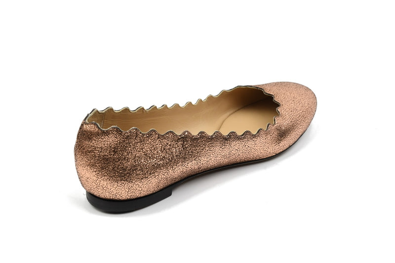 Pink Gold Lauren Ballerines