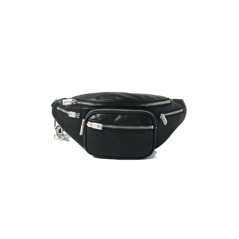 Attica Fanny Pack Leather Belt Bag Black