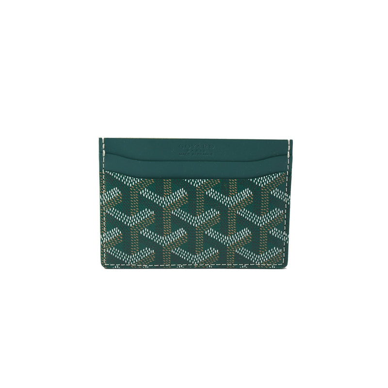 Goyard  Classic Pattern Leather Card Holder Green