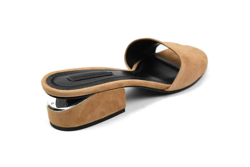 Lou Suede Sandal with Rhodium