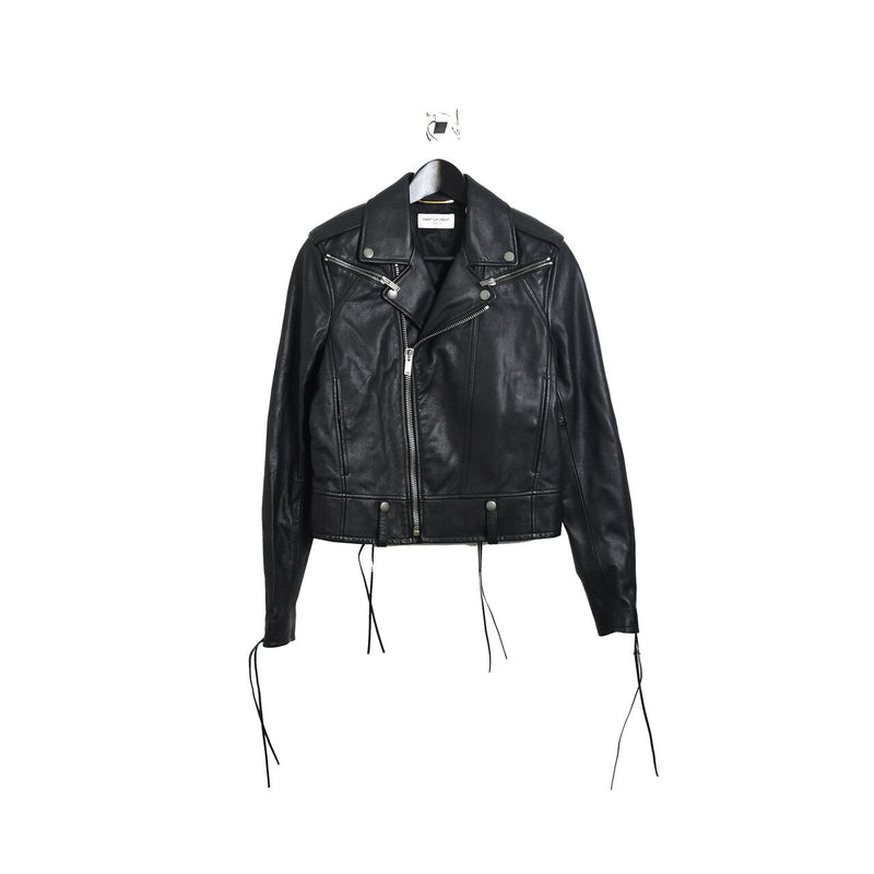 YSL Classic Leather Jacket Black