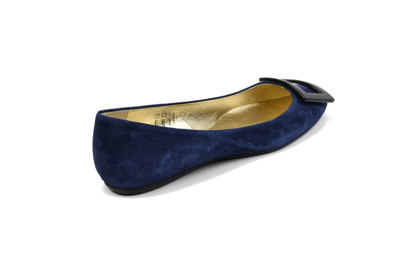 Light Blue Gommette Suede Flats