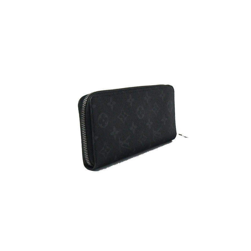 LV Men's Zip Around Wallet Black