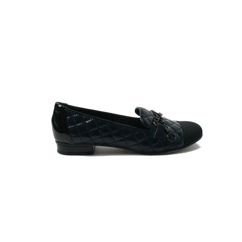 Mocassins Loafer Deer Crosgrain Black Blue