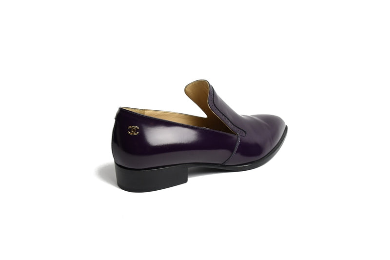 Mocassins Glazed Calf Skin Loafers /Dark Purple