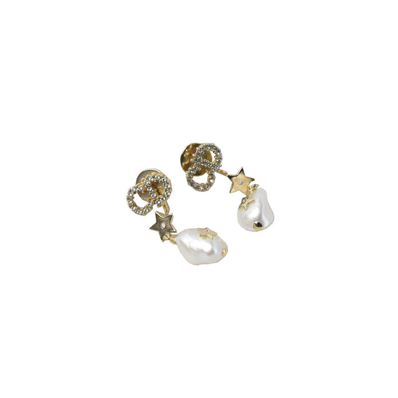 Dior CD Pearl Earrings