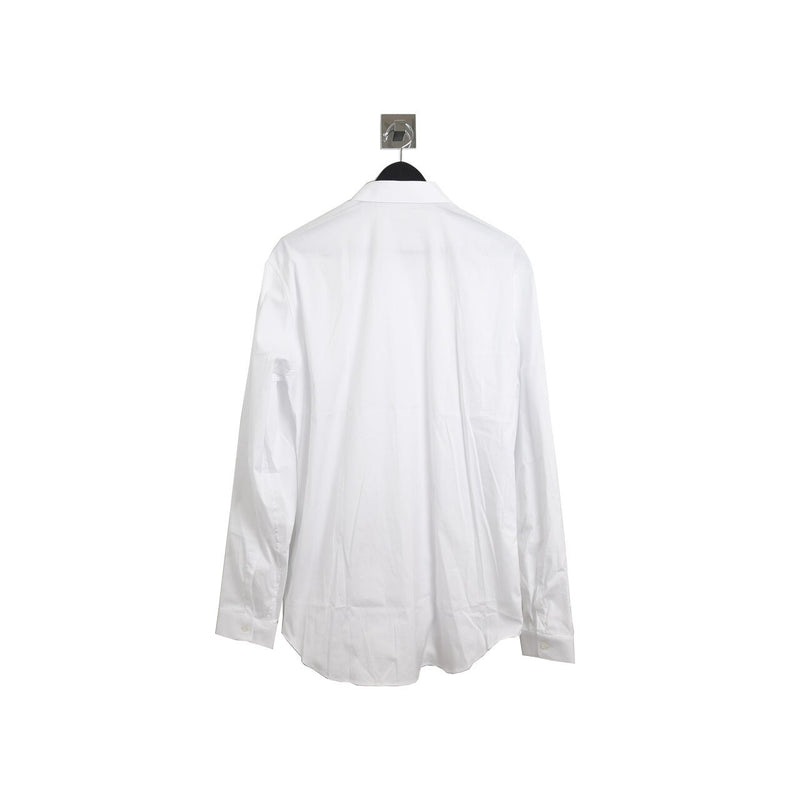 Classic Bee Logo Button Down Shirt White