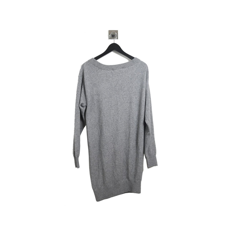 Zipper Long Sleeve Top Grey