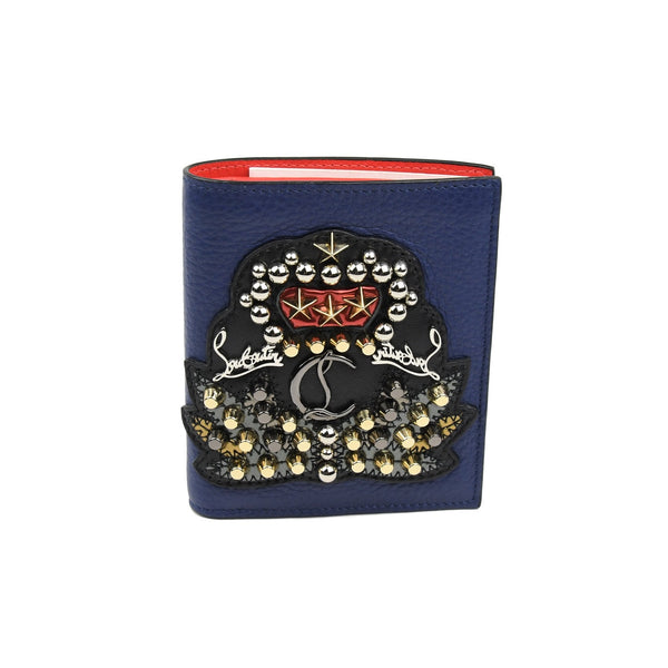 Studded-Crest Card Case