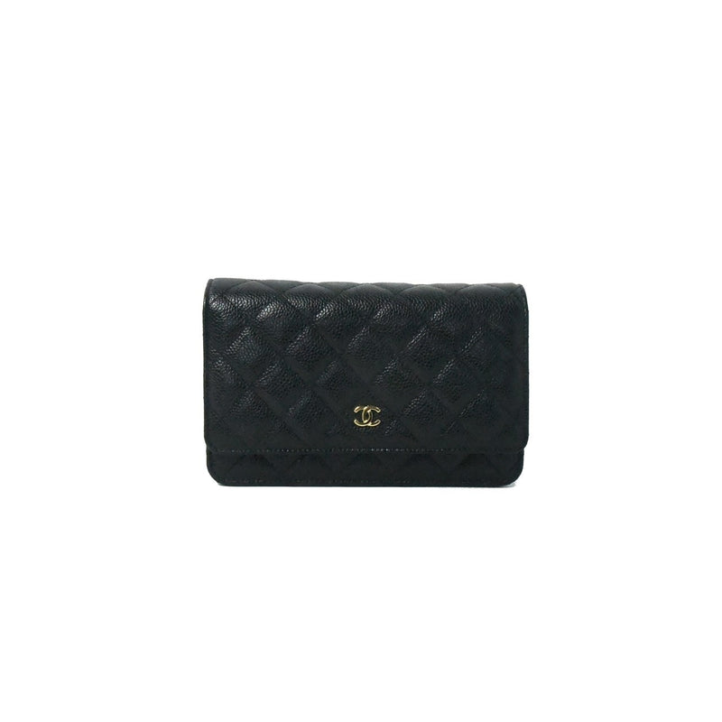Chanel CF Cavier Wallet on Chain Black
