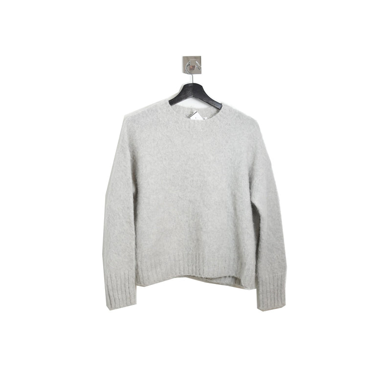 Helmut Lang Brushed Wool Sweater Grey