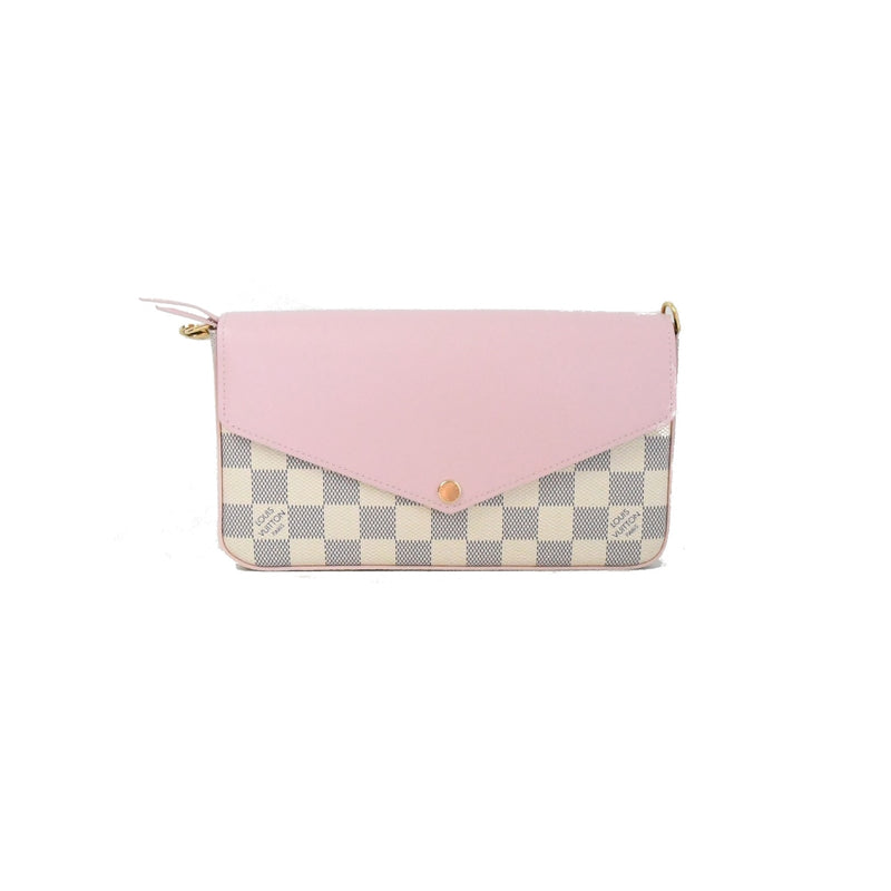 Damier Wallet on Chain Rose