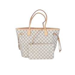 Neverfull Damier Azur MM Rose