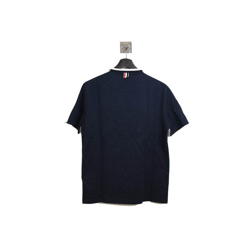 Thom Browne 2 Tone T Shirt Grey Blue