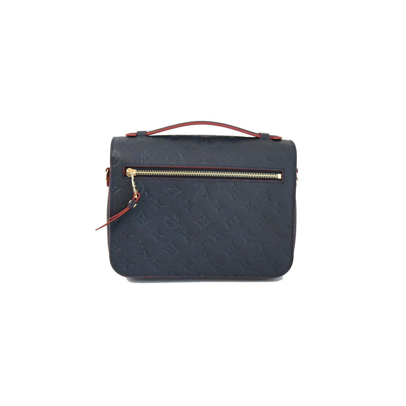 Louis Vuitton Pochette Metis Monogram Empreinte Leather Marine Rouge