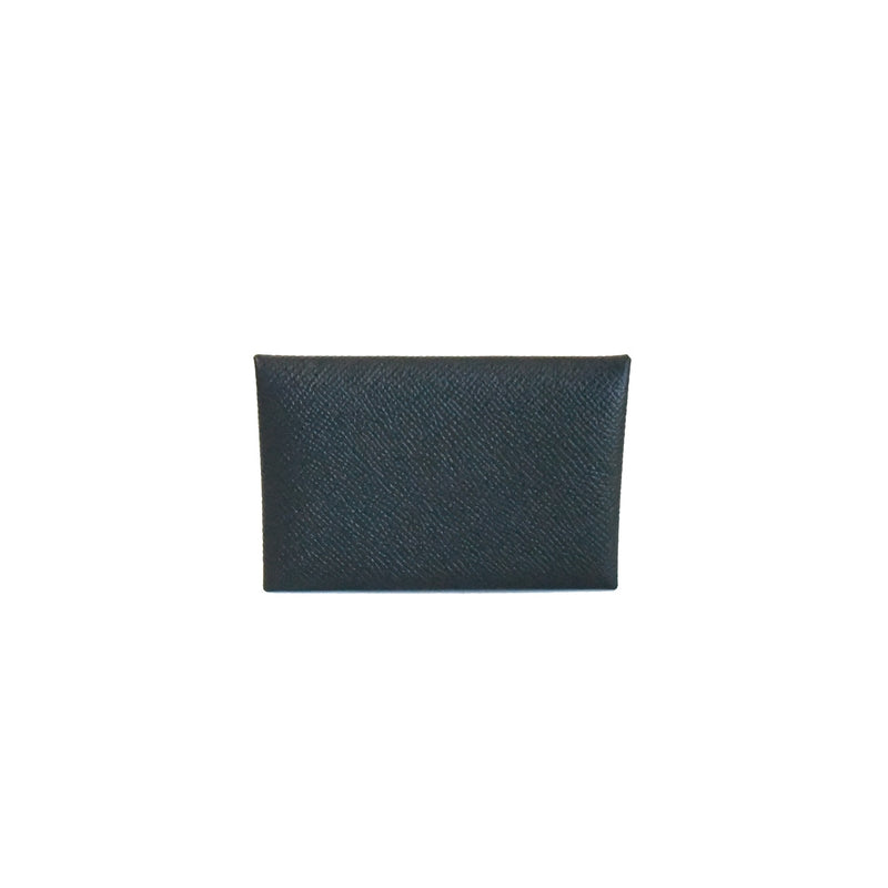 Hermes Calvi Card Holder Black