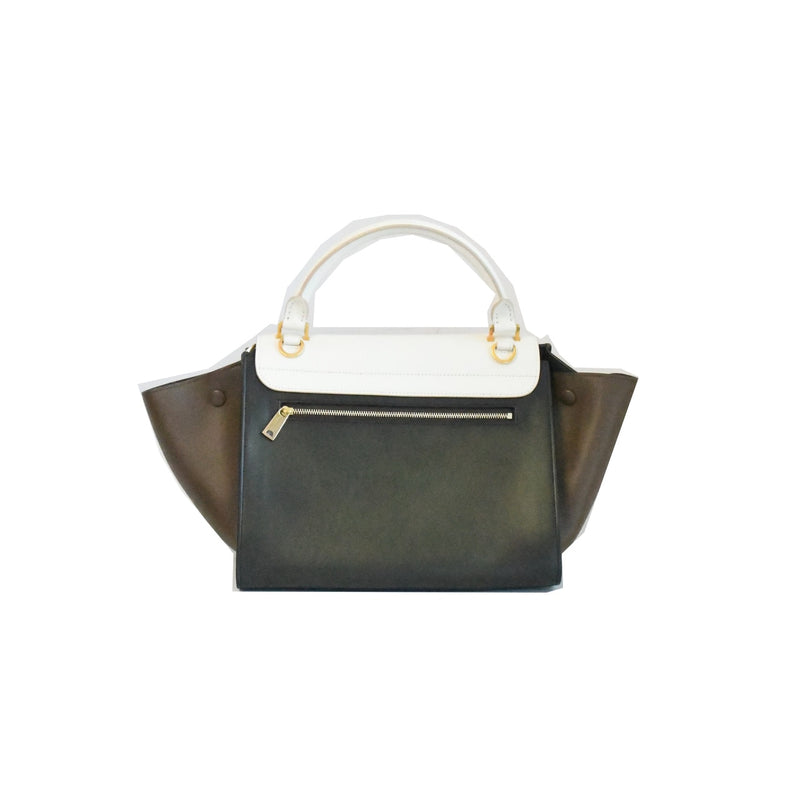Celine Trapeze White Black Brown