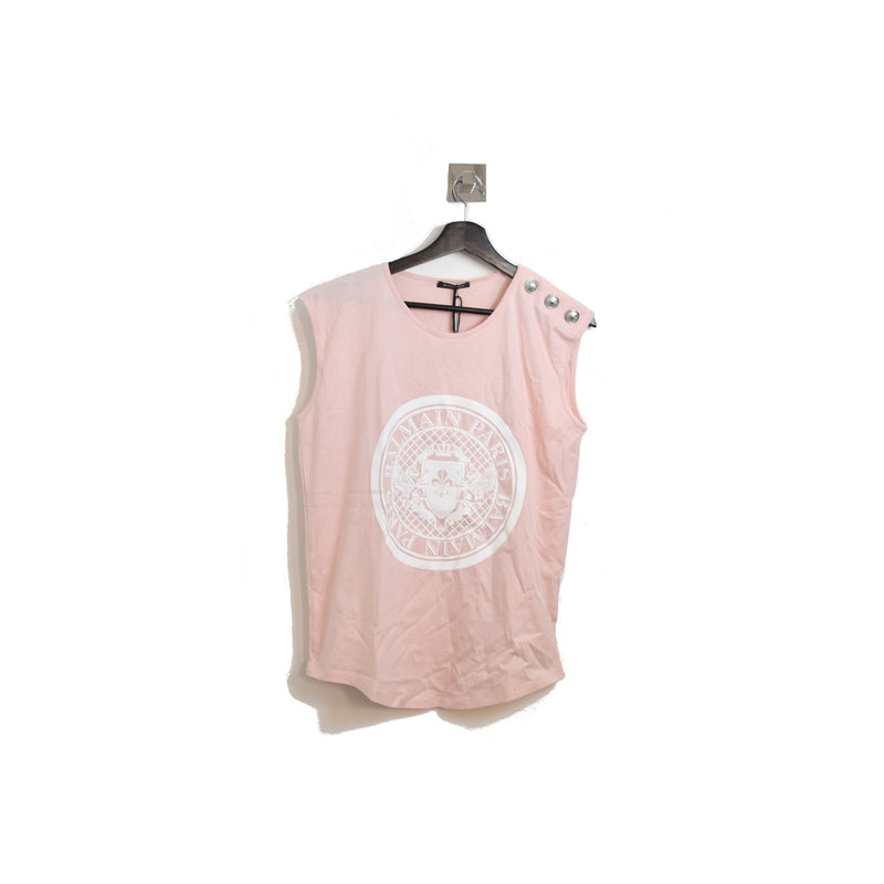 Balmain Sleeveless Shirt Pink