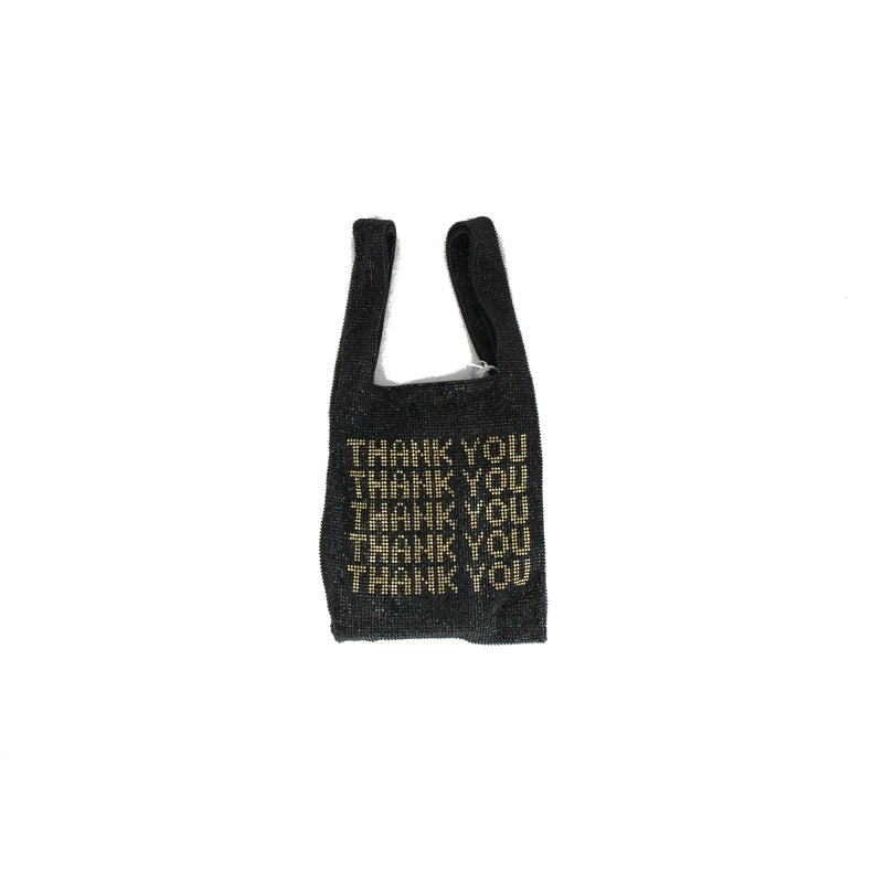 Thank You Swarovski Bag Black