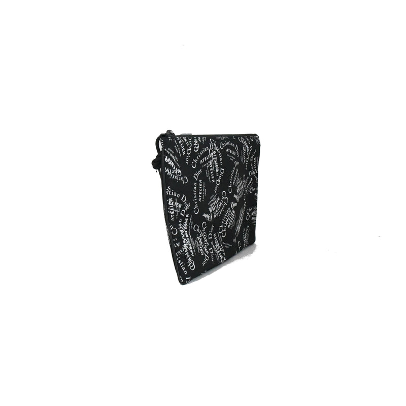 Atelier Zip Pouch Black White