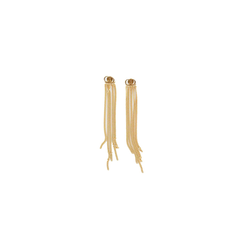 CD Studs with Golden Strings Earring