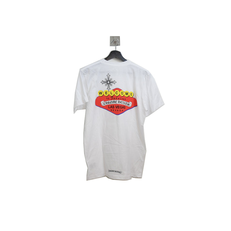 Colored Las Vegas Sign T-Shirt White
