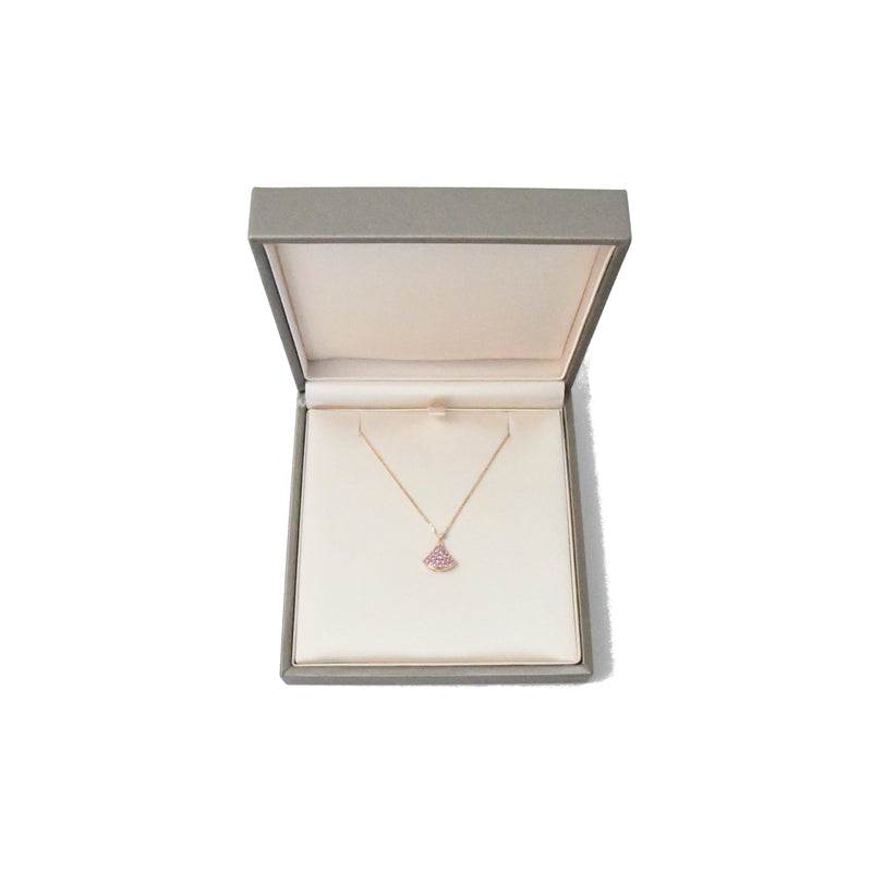 Divas Dream 18 kt Rose Gold Necklace Pink Sapphire