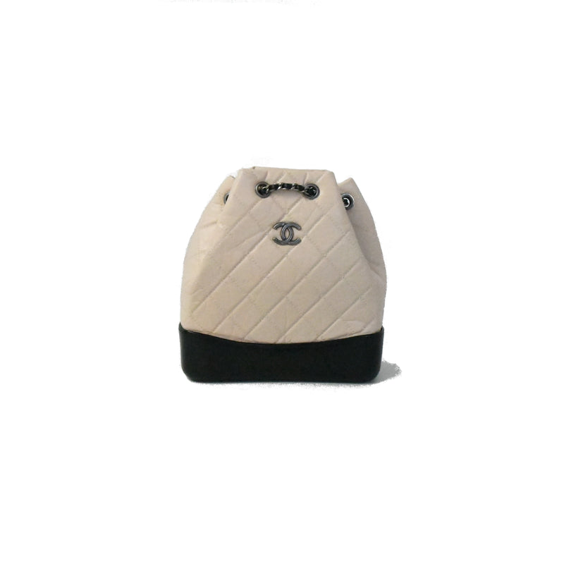 Gabrielle Small Backpack Beige Black