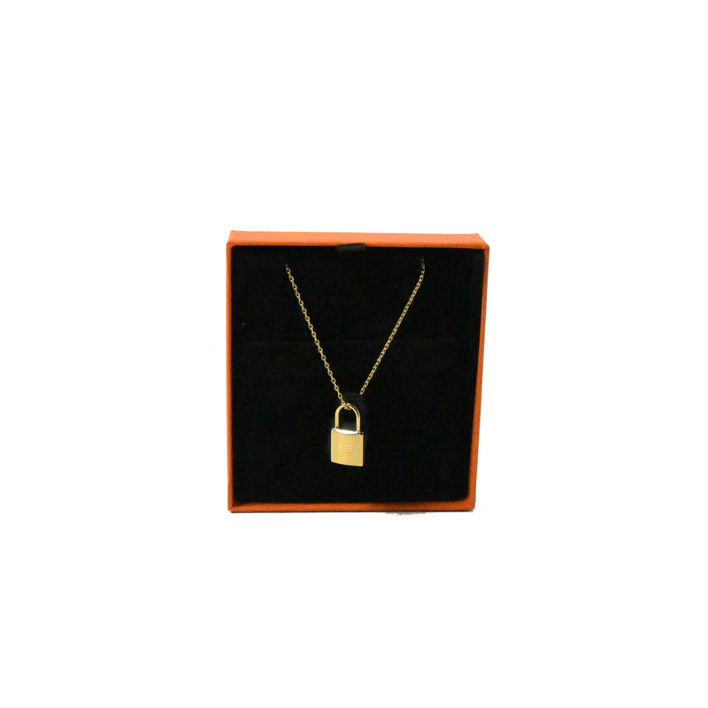 Okelly Necklace Gold HW with Black Leather