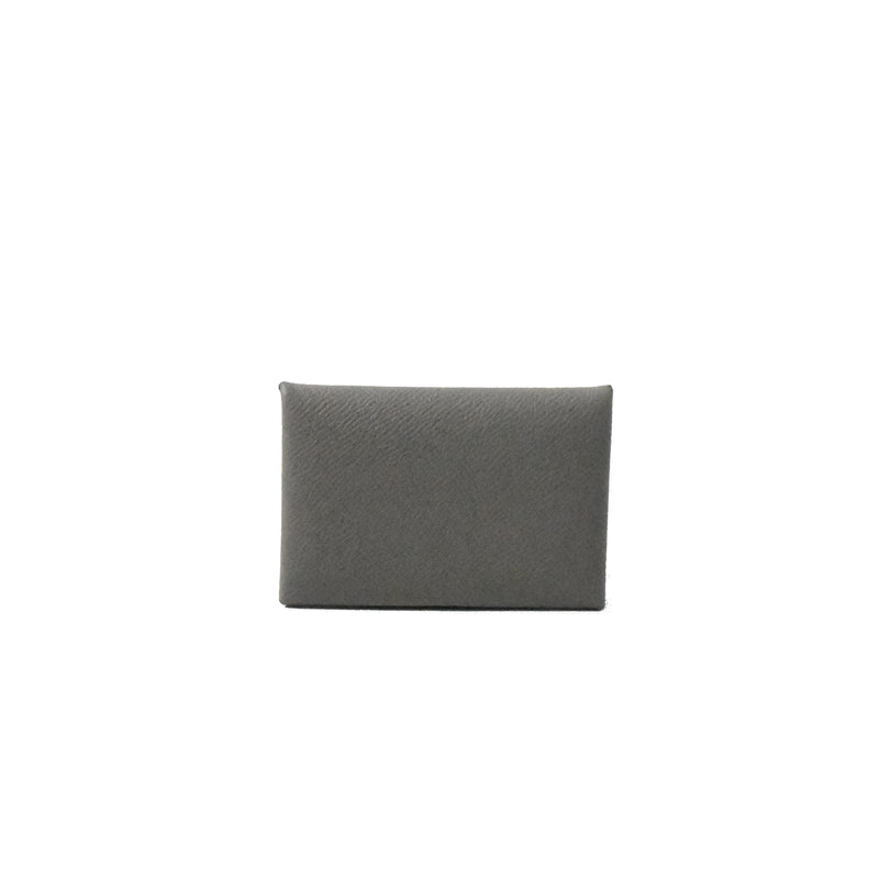 Calvi Card Holder Epsom Etain