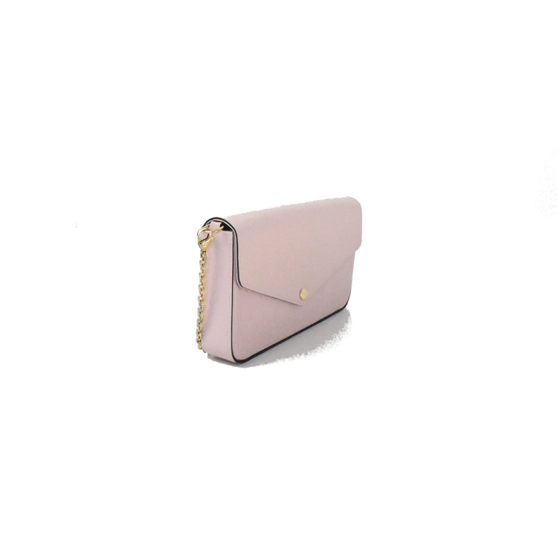 Felicie Pochette Monogram Vernis Leather Rose Ballerine